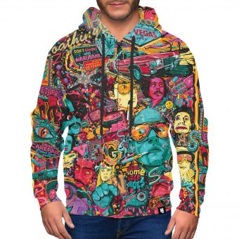 Fear and Loathing Zip-Up Hoodie
