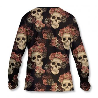 Long Sleeve T-Shirt Skull and Roses