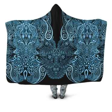 Beauty Of The Ancient Blue Hooded Blanket
