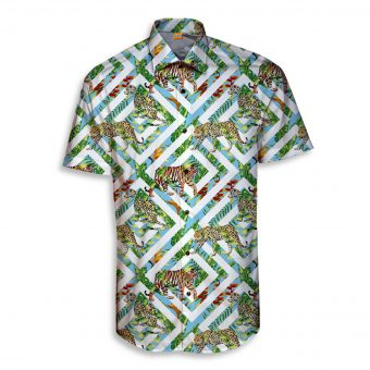 The Tiger and the Square Short Sleeve Shirt