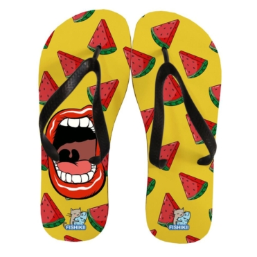 Strawberry Mouth Flip Flops
