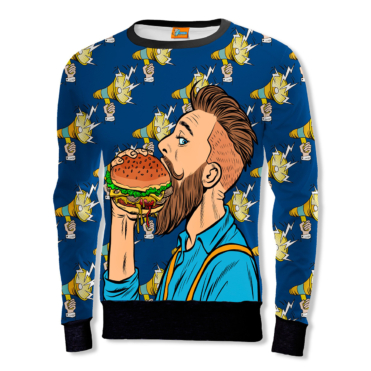 The Hipster and the burger Sweatshirt