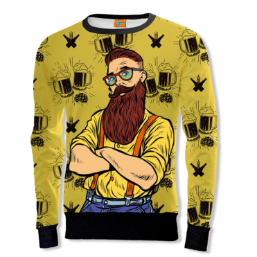 The Hipster and the beer Sweatshirt